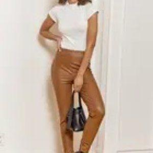 Lulus Way Too Cool Vegan Leather Leggings Size xs